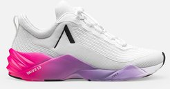 Avory Mesh W13 Sneakers in White/Bright Pink Bandier