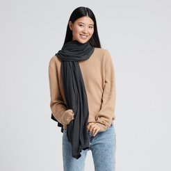 Chetwyn Silk Cashmere Travel Wrap in Smoke