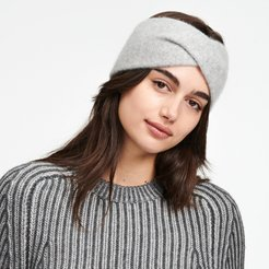 Cashmere Twist Headband in Cement