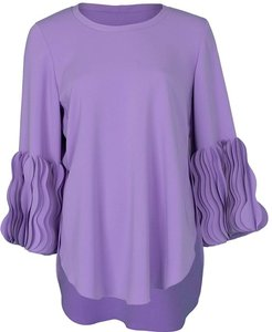 Lilac Wave Cuff Pullover Top