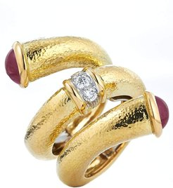 Ruby Double Tip Nail Ring