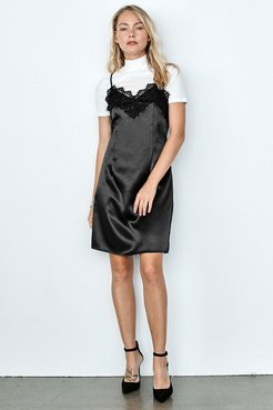 Black Slip Lace Dress