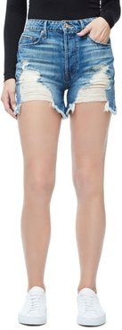 The Bombshell Short Blue153 Ripped Jeans, Size 2 | 26