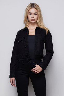 Cropped Jacket Black001, Plus Size 7