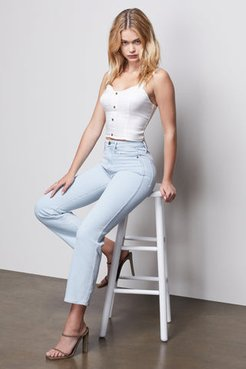 Good Curve Straight Notched Blue409 Flared Jeans, Plus Size 18