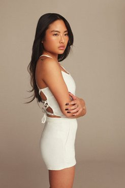 Vacay Playsuit White001, Plus Size 7