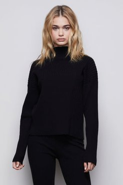The Go-to Boxy Sweater Black001, Size 0
