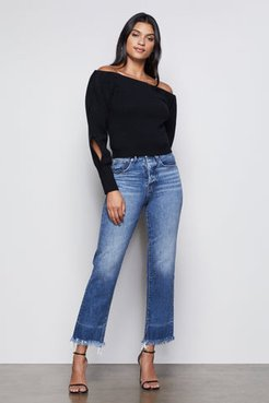 The Off-the-shoulder Sweater Black001, Size 2