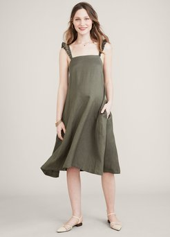 HATCH Maternity The Cate Dress, Olive, Size 1