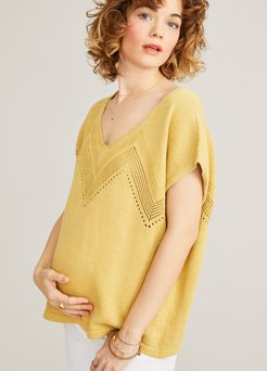 HATCH Maternity The Gia Top, Marigold, Size 0