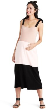 HATCH Maternity The Sage Dress, Blush/black, Size 2