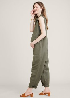 HATCH Maternity The Keera Jumpsuit, Olive, Size 0