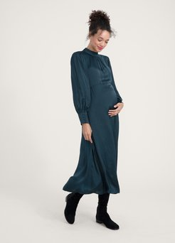 HATCH Maternity The Robin Dress, Forest Green, Size 0