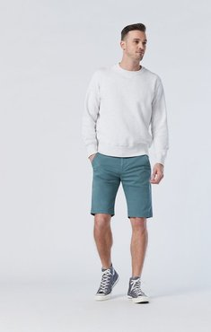 Jacob Shorts In Silver Pine Twill