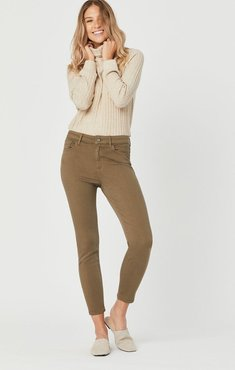 Tess Super Skinny Jeans In Dusky Green Supersoft