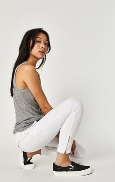 Ivy Cargo Pant In White Twill
