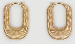 Mejuri Le Textured Hoops Gold Vermeil Size Onsz