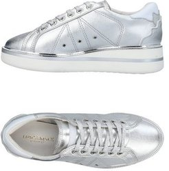 Donna Sneakers Argento 35 Pelle