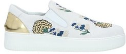 Donna Sneakers Bianco 36 Pelle