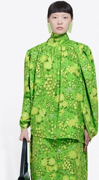 Twisted Blouse Green