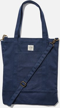 Typo - Book Tote Bag - Washed navy
