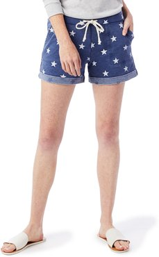 Lounge Printed Burnout French Terry Shorts