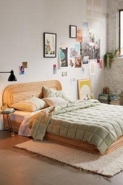 Pistachio Quilted Throw Blanket - Assorted ALL at Urban Outfitters