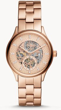 Modern Sophisticate Automatic Rose Gold-Tone Stainless Steel Watch