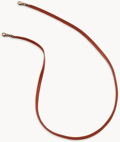 Brown Leather Face Mask And Eyewear Chain  FCU0387214