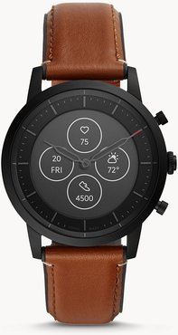 Hybrid Smartwatch Hr Collider Tan Leather jewelry