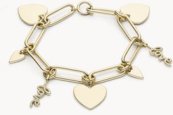 Love Collection Gold-Tone Stainless Steel Chain Bracelet jewelry JF03341710