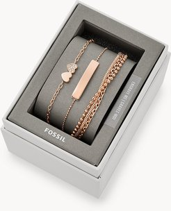 Rose Gold-Tone Steel Bracelet Gift Set jewelry JGFTSET1041