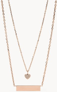 Rose Gold-Tone Stainless Steel Pendant Necklace  JOF00666791