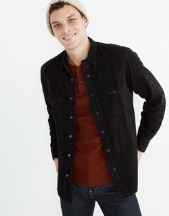 Denim Western Perfect Shirt in Black Wash