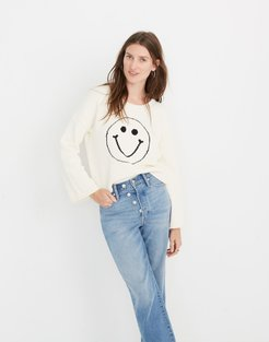 Brownstone Smiley Face Pullover Sweater