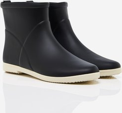 Alice + Whittles™ Minimalist Ankle Rain Boots in Black and White