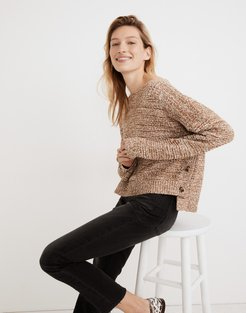 Boatneck Side-Button Sweater