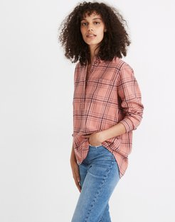 Flannel Popover Shirt in Colcord Plaid