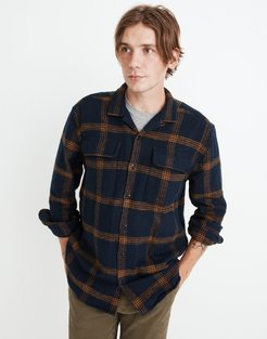 Flannel Easy Long-Sleeve Camp Shirt in Windowpane