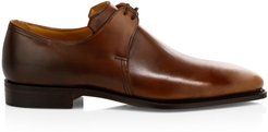 Arca Leather Oxford Loafers - Wood Brown - Size 10