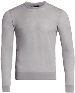 Wool Crewneck Sweater - Light Grey - Size 58 (48)
