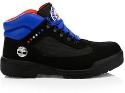 NBA Collection Philadelphia 76ers Lace-Up Leather Boots - Black - Size 9 M