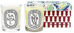 Diptyque x Pierre Frey Two-Piece Sandalwood & Tuberose Scented Candle Set
