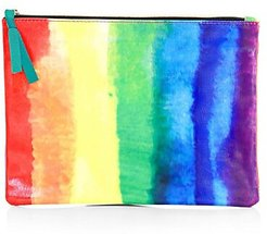COLLECTION Rainbow Canvas Flat Pouch