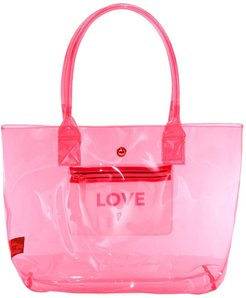 COLLECTION Love Translucent Neon Tote Bag - Pink