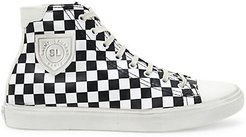 Bedford High-Top Leather Sneakers - White Black - Size 36 (6)