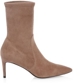 Wren Suede Sock Boots - Taupe - Size 10.5
