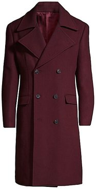 Double-Breasted Officer's Coat - Purple - Size 52 (42) R
