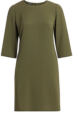 Finesse Crepe Quintana Shift Dress - Sycamore Green - Size 2X (18-20)