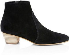 Lola Suede Ankle Boots - Black - Size 10